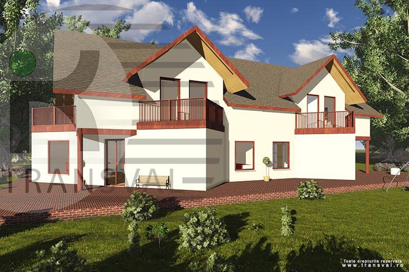 Casa din lemn tip duplex