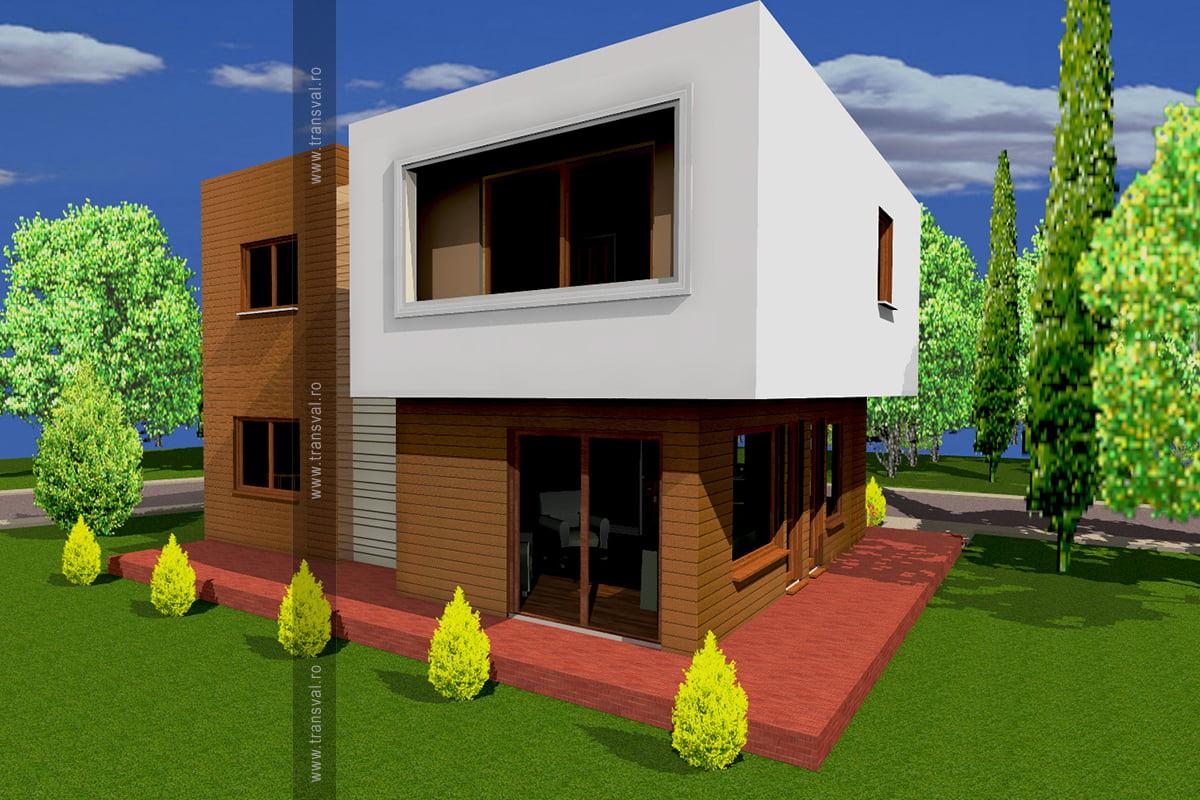 Casa din lemn Cub