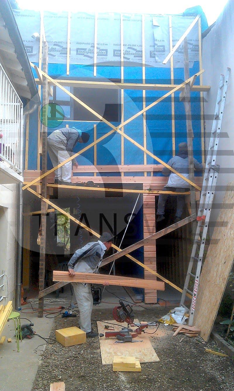 Extensie din lemn casa Poitiers Franta