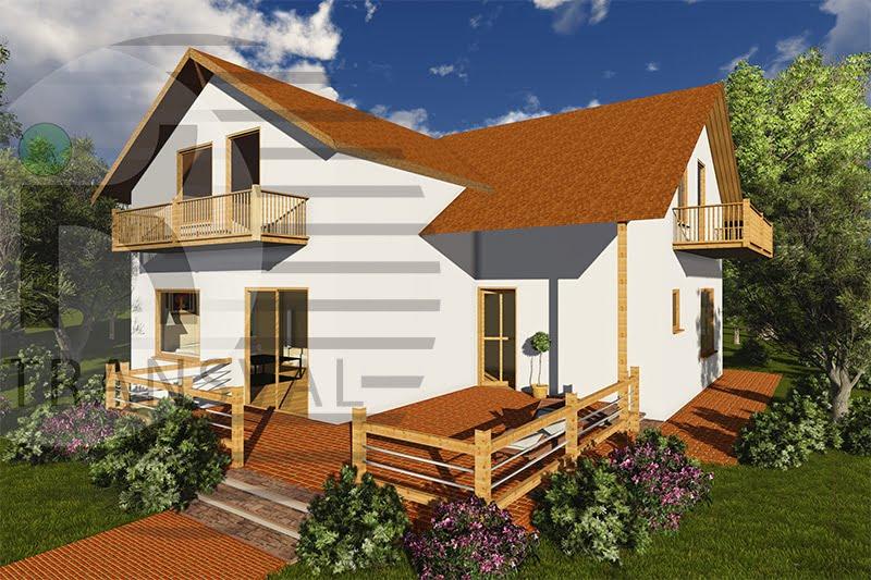 Casa din lemn Zaharia